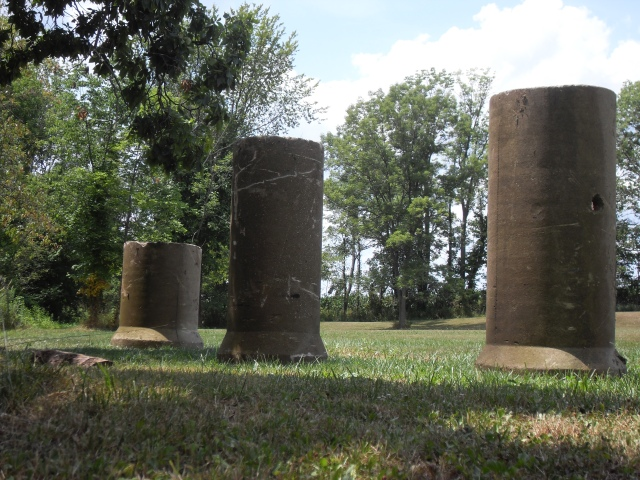 yard erection, pipehenge, new lawn decor,
