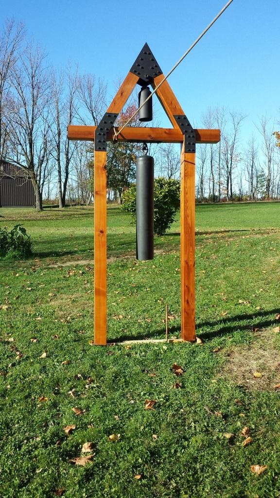landscape installation, landscape sculpture, welded yard art, repurposed yard art, Mark Weldon,